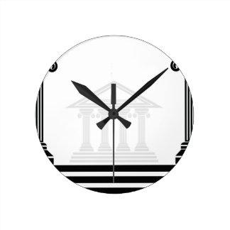 greek pillars round clock