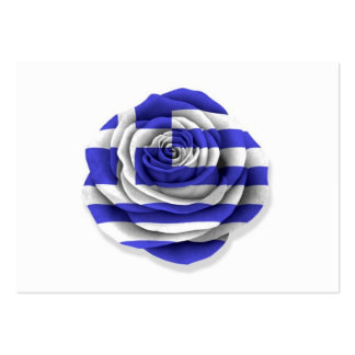 Greek Rose Flag on White Business Cards