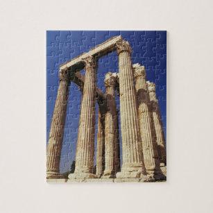 Greek ruins, Athens, Greece Jigsaw Puzzle