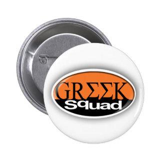 greek squad 6 cm round badge