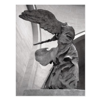 Greek Statue Winged Victory of Samothrace Nike Postcard