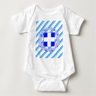 Greek stripes flag baby bodysuit