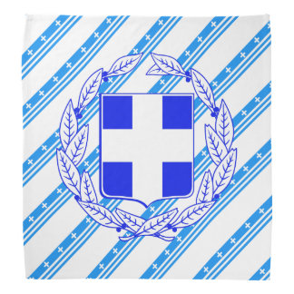 Greek stripes flag bandana