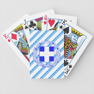 Greek stripes flag bicycle playing cards