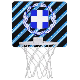 Greek stripes flag mini basketball hoop