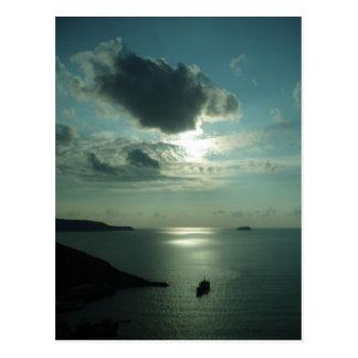 Greek Sunset Postcard