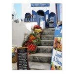 greek tavern on Santorini, Greece Post Cards