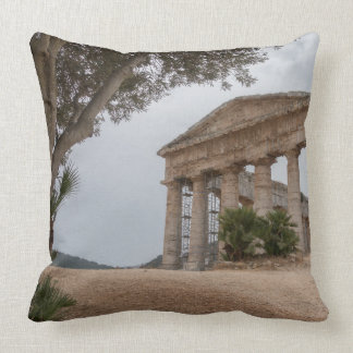 Greek temple at Segesta, Sicily Cushion