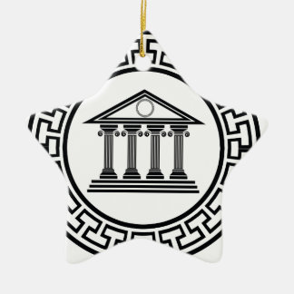 Greek temple ceramic ornament