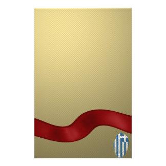 Greek touch fingerprint flag customised stationery