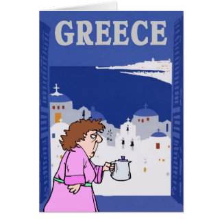 Greek Travel, Woman Card