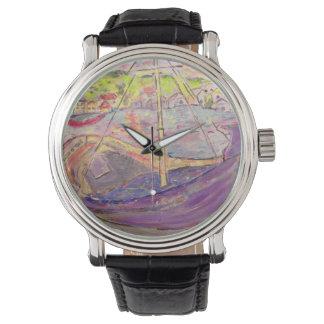 greek village sunset wristwatches