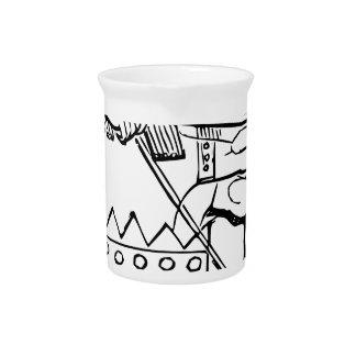 Greek Warrior Art Beverage Pitchers