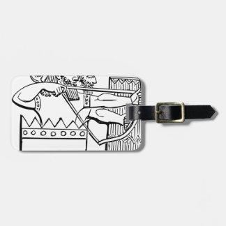 Greek Warrior Art Luggage Tag