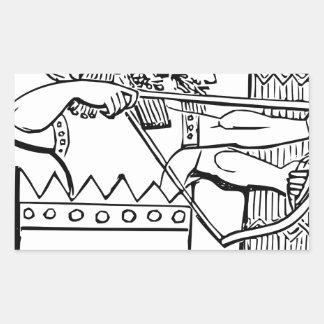 Greek Warrior Art Rectangular Sticker