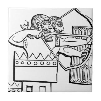 Greek Warrior Art Tile