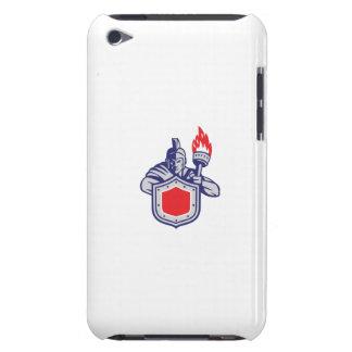 Greek Warrior Shield Torch Retro iPod Case-Mate Case