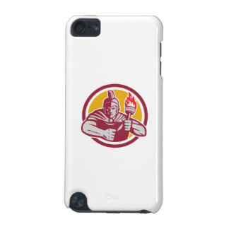 Greek Warrior Torch Circle Retro iPod Touch 5G Covers