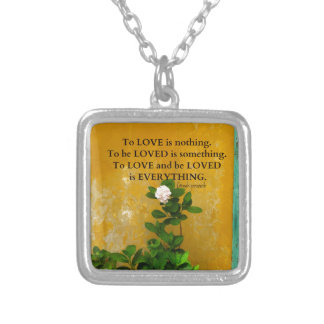 greekproverbInspirational Love quote Greek Proverb Silver Plated Necklace
