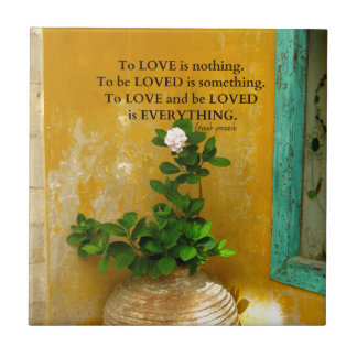 greekproverbInspirational Love quote Greek Proverb Small Square Tile