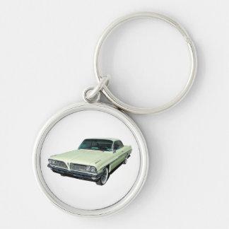 Green 1961 Ventura Bubble Top Silver-Colored Round Key Ring