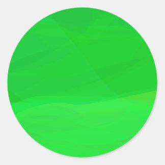 Green 2 round stickers