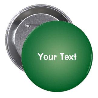 """Green 3"""" Custom Text Button Template"""