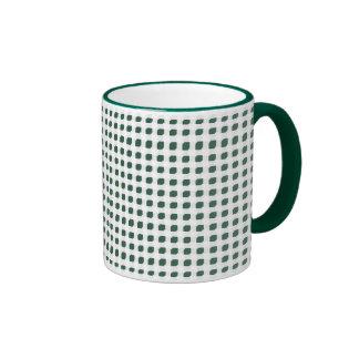 Green 3 Side Boxes Ringer Mug