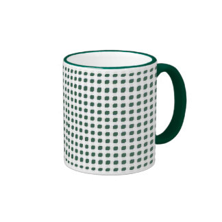 Green 3 Side Boxes Ringer Mug