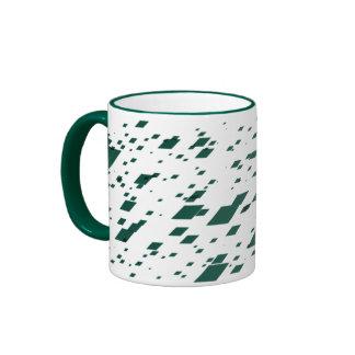 Green 3d Boxes Ringer Mug