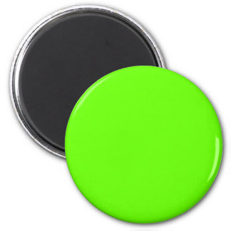 Green #66FF00 Solid Color 6 Cm Round Magnet