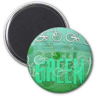 Green 6 Cm Round Magnet