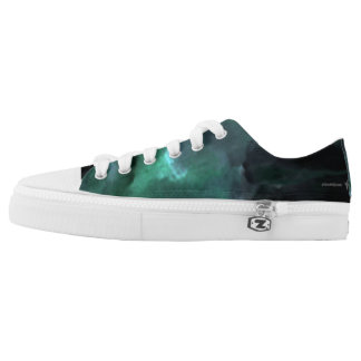 Green Abstract #1 Low Tops