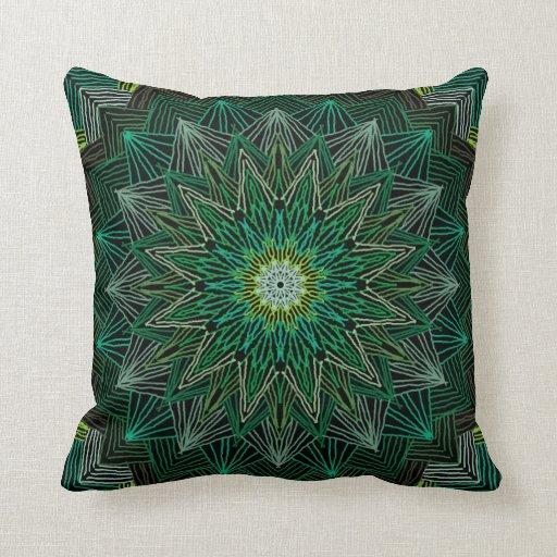 Green Abstract American MoJo Pillows