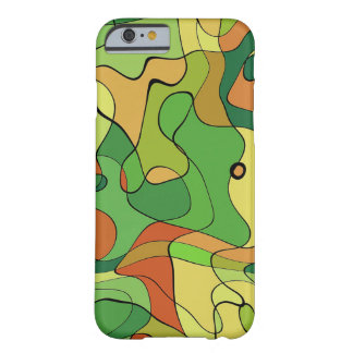 Green abstract Army Pattern Barely There iPhone 6 Case