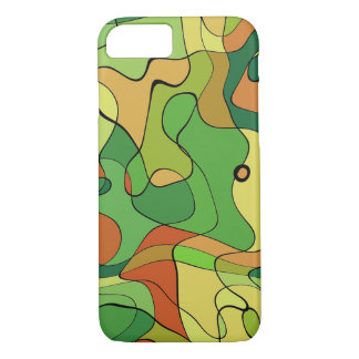 Green abstract Army Pattern iPhone 7 Case