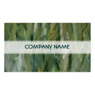 Green Abstract Art Painting 2 Pack Of Standard Business Cards