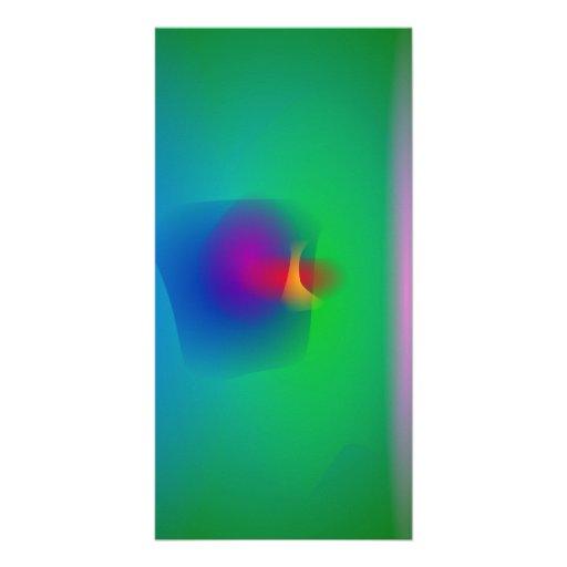 Green Abstract Balance Custom Photo Card
