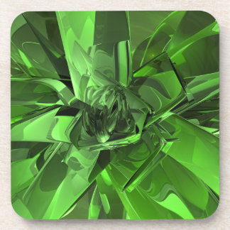 Green Abstract Coaster