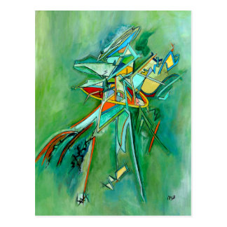 Green Abstract Colourful Fine Art Cards