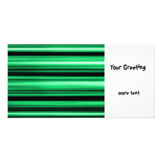 Green Abstract Customized Photo Card