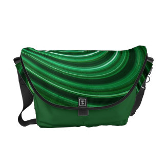 Green Abstract Design Commuter Bag