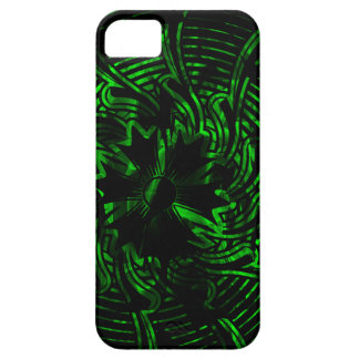Green Abstract Flower iPhone 5 Covers