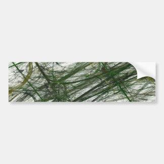 Green Abstract Fractal Background Bumper Sticker Car Bumper Sticker
