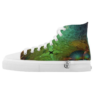 GREEN ABSTRACT HIGH TOPS