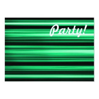 "Green Abstract 5"" X 7"" Invitation Card"
