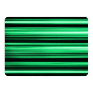Green Abstract 13 Cm X 18 Cm Invitation Card
