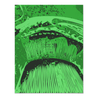 Green Abstract. Personalized Invites