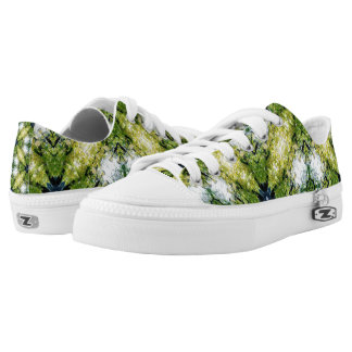 Green Abstract Low Tops