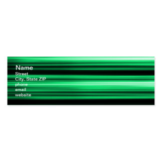 Green Abstract Pack Of Skinny Business Cards